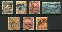 New Zealand 1898/03 range of issues to 1/- with perf and wmk varieties FU Stamps
