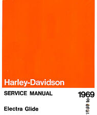 1959 to 1969 HARLEY-DAVIDSON ELECTRA GLIDE SERVICE MANUAL -NEW SEALED-FL-FLH