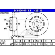 SATZ 2x ATE Bremsscheibe MERCEDES-BENZ M-CLASS (W163)