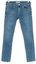 Topshop SKINNY BAXTER Vintage BLUE Low Rise Crop Stretch Jeans 12 W30 L32