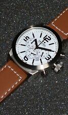 TW STEEL MARC COBLEN EDITION TWMC10 Uhr Chronograph Edelstahl Leder braun 42 mm