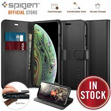 iPhone XS Case, Genuine SPIGEN Stand Flip View Wallet S Cover for Apple
