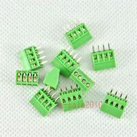 "10pcs 4 Poles/4 Pin 2.54mm/0.1"" PCB Universal Screw Terminal Block Connector G03"