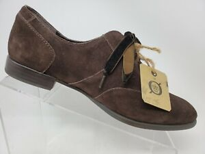 Born Eden Oxford Brown Size 9.5 Womens Suede Lace Up Shoes F27023
