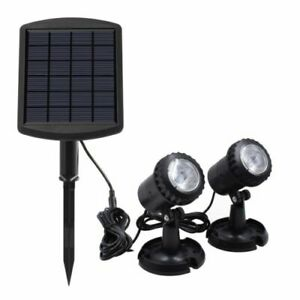 solar pond lights x 2 with panel and battery
