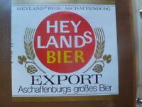 RETRO GERMAN BEER LABEL HEYLANDS BREWERY EXPORT  UNSED