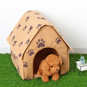 Paw Print Kennel Portable Sleeping Bag Pet House Puppy Mat Cat Tent Dog Bed
