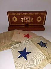 Vtg Marlboro Texan No. 45 Poker Cards Sealed Cigarette Advertising 2 Decks Case