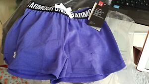 BNWT Girls Under Armour Shorts  Size Large  Purple