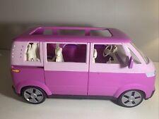 BARBIE Volkswagen VW Bus Pink 2 Tone Mini Van by Mattel 2002 Sliding Door