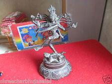Vintage Solid Brass Hindu Tribal Dancing God Shiva Natraj Statue Figurine #06