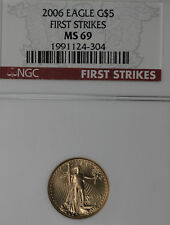 "2006 1/10 Oz Gold Eagle -  ""First Strikes"" NGC MS69"