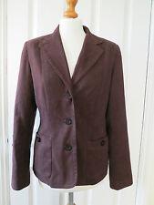 Lovely M & Co chocolate brown suedette peachskin blazer jacket size 12