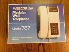 NEW VINTAGE Retro Push Button Modular Wall Telephone by WebCor Zip