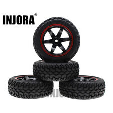 4PCS 1:10 Rally Car Wheel Rim Tire for 1/10 Tamiya HSP HPI Kyosho 4WD RC On Road