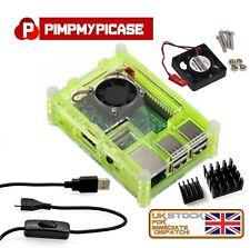 Raspberry Pi 3 & 2 B+ Starter Kit (Green Case, Fan, Cable, Heat sink) Retropie