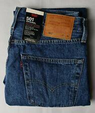 New Men Levis 501 Regular Original Fit Straight Leg Stonewash Blue Denim Jeans