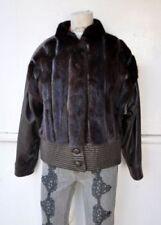 Leather Regular Size Mink Coats, Jackets & Vests for Women