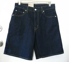 LEVI STRAUSS & CO 550 Men's Blue Relaxed Jean Shorts! Sz W30, NWT!