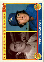 1983 Topps St. Louis Cardinals Baseball Card #451 Ted Simmons SV