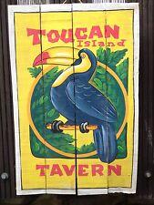 HOLZ Tiki Bar Südsee Maori 60x40cm Rockabilly handgemalt Schild Bild