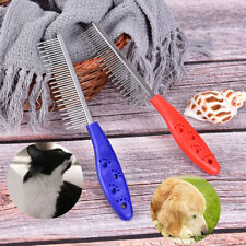 Pet Dog Cat Metal Double Row Teeth Brush Grooming Hair Comb Rake Tool UsefulATA