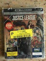 JUSTICE LEAGUE STEELBOOK (4K Ultra HD + Blu-Ray + Digital Copy) New & Sealed