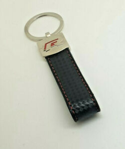 Type R Keyring Leather Carbon Look UK Seller Free Postage