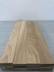 Oak TImber - Natural Wood- Offcuts - Hardwood 20 Pieces 58mm X 10mm X 600mm long