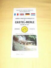 Castel-Merle Sergeac Dordogne Tract Dépliant Prospectus Flyer Tourisme brochure