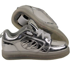 Heelys Unisex Adults Premium 1 Lo Trainers Silver (silver Chrome) 3 UK 35 EU