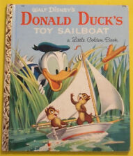 Donald Duck's Sailboat 1954 Little Golden Book Great Illustrations! Nice See!