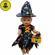Baby Doll Clothes Cute Halloween Witch Dress Fit 43cm  Baby 16-18 inch Doll