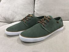 DC Shoes Green Suede Low-Top Mens Skateboard Sneakers 12 US Excellent