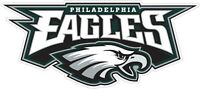 "Philadelphia Eagles NFL Color Die Cut Vinyl Decal  - You Choose Size 2"" - 62"""