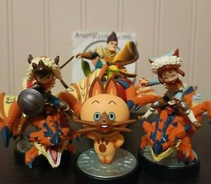 Monster Hunter Series Amiibo Figures Nintendo Switch Collection 3DS Lot