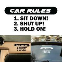 Car Auto Windshield Sticker Funny Rules Decal DIY Decor L9A9