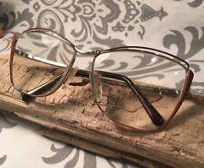 Vintage Univis Gold Burnt Orange Elegance Eyeglass Frames 56-14-135 Movie Prop