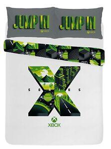 Xbox Series X Double Duvet Cover Polycotton Reversible Bedding Set w/Pillowcases