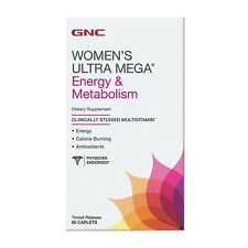 GNC Womens Ultra Mega MultiVitamin Energy Metabolism 90 Caplets