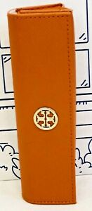 Tory Burch Orange Case Eyeglass Gold Eyeglasses Reading Glasses Logo Pouch Glass