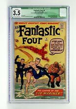 Fantastic Four #4 CGC 3.5 Qualified 1st Silver Age Appearance of Sub-Mariner