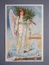R&L Postcard: Merry Christmas Angel Christmas Tree