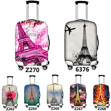 Eiffel Tower Travel Luggage Cover Suitcase Protector Dust-proof Case 18-28 inch