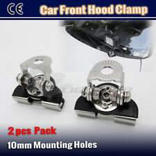 2PCS Car Front Bonnet Hood Clamp Mounting Brackets Antenna For LED Light Bar