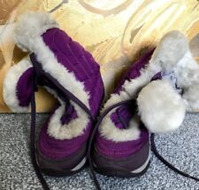 THE NORTH FACE NUPTSE FUR II PURPLE WINTER BOOTS SIZE UK 11