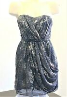 BCBGeneration Womens Sz 2 Bodycon Shimmer Mini Dress Wedding Evening Pockets