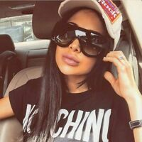 Oversized Fashion Designer Square Big Single Flat Lens Womens Sunglasses Shades