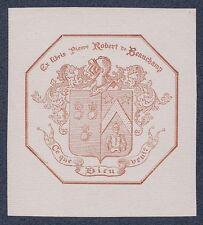 Ex Libris Bookplate for Robert de Beauchamp