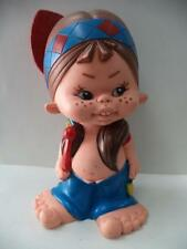 """Antique Rubber Doll w/ Whistle - Collectible Toy 9"""""""
